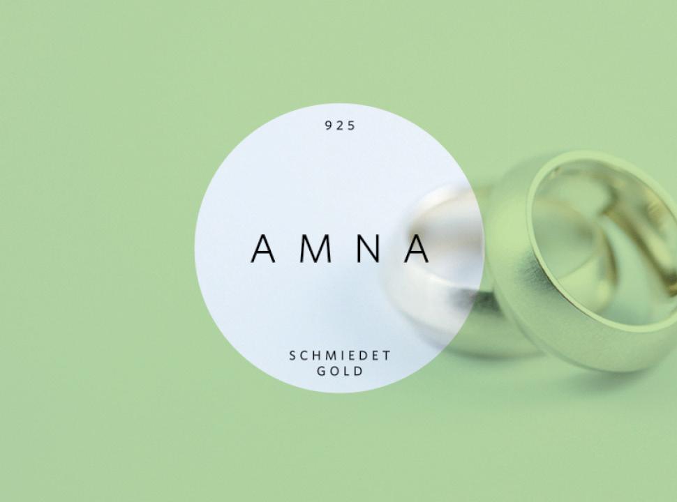AMNA Logo und Erscheinungsbild