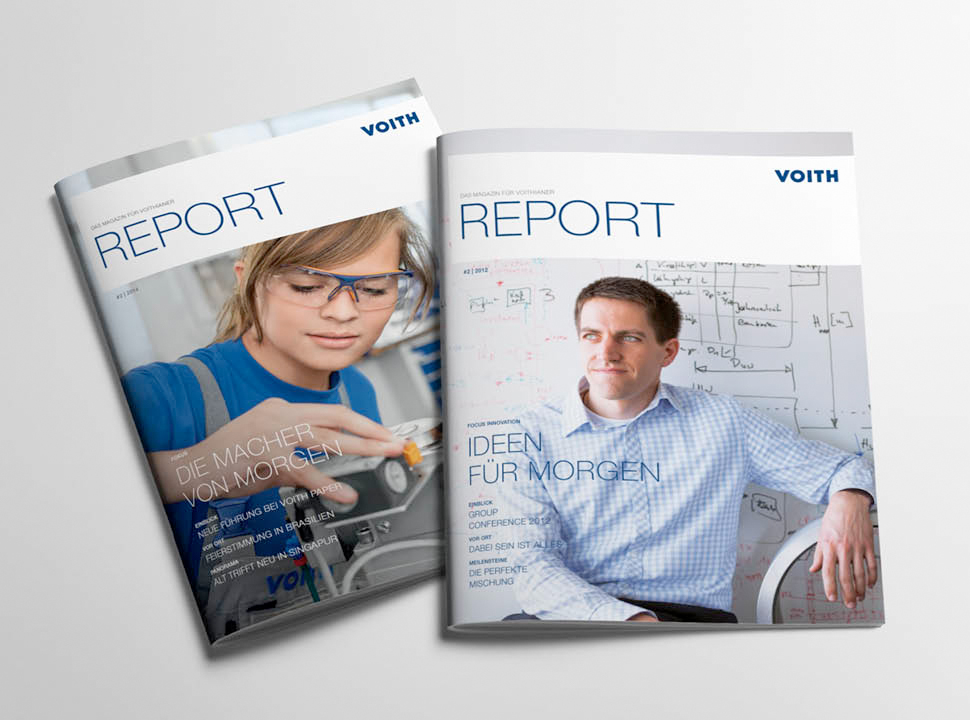 Voith Report Mitarbeitermagazin